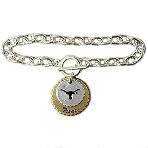 Mixed Metal Toggle Bracelet with