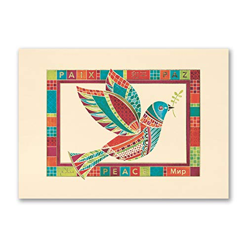 75pk Patchwork Dove - UNICEF-Charity Cards