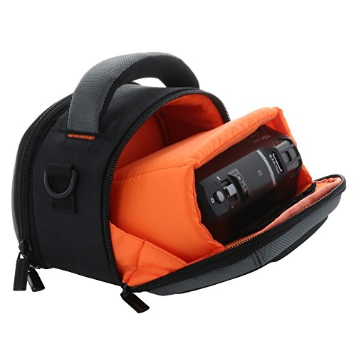 Tasche Hülle Hardcase für Camcorder mit Tragegriff und Schultergurt für z.B. Panasonic HC-V180 V777 - Sony HDR CX240E CX450 CX625 etc