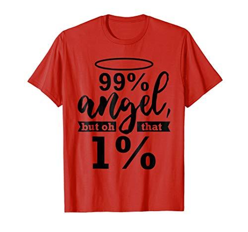 (Funny Angel Devil 99 Percent Wild Side T Shirt Tee)
