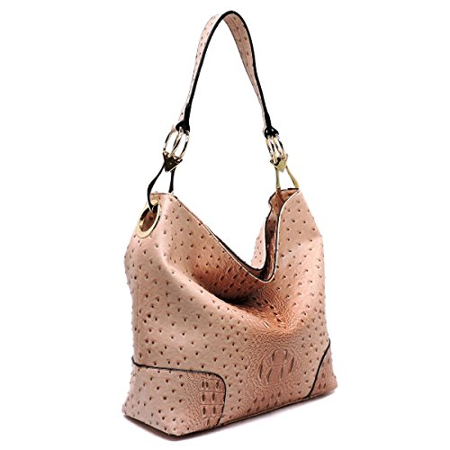 Miel Hobo Top Classic Blush 7 Le Embossed New Ostrich Zip Color Choices q6Zf5xTW