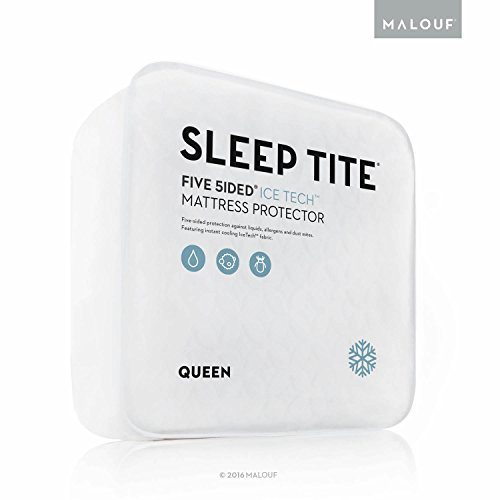 Malouf SLEEP TITE FIVE SIDED IceTech Waterproof Mattress ...