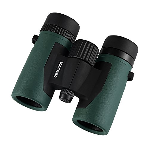 (Wingspan Optics NatureScout 8X32 Compact Binoculars for Bird Watching. Lightweight and Durable. Bright and Clear Views. Waterproof. Fog Proof. For Bird Watching, Watching Sports Games or Concerts.)