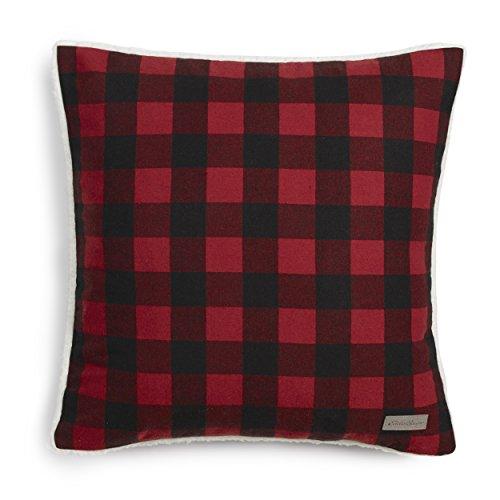 (Eddie Bauer Red Cabin Plaid Flannel 20-inch Decorative Pillow, 20x20,)