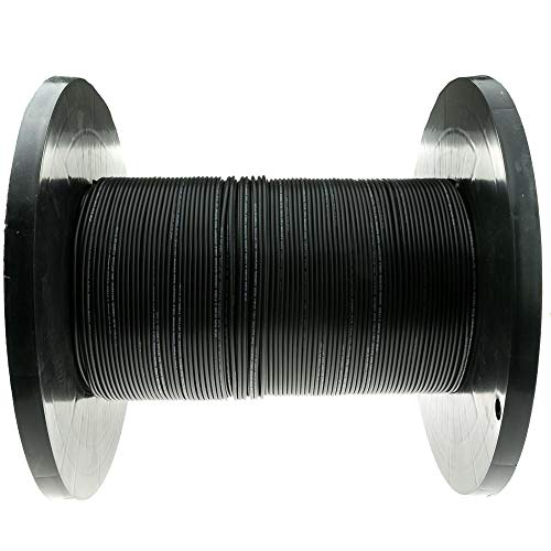 GOWOS 2 Fiber Indoor/Outdoor Fiber Optic Cable, Multimode, 62.5/125, Black, Riser Rated, Spool, 1000 Feet (Single Mode 12 Fiber Optic Cable 1000 Feet)
