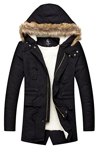 NITAGUT Men's Hooded Faux Fur Lined Warm - Fur Lined Jacket Shopping Results