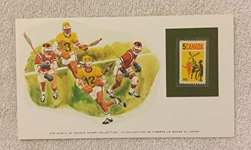 Lacrosse - The World of Sports - Postage Stamp & Commemorative Art Panel - Franklin Mint (1982) - Canada from World of Sports