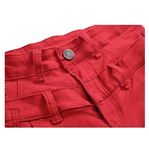 taille Personnalité Eu Pour 3 Cassés Jeans Décontracté Rouge Pantalon De Double Hommes 1 37 Uiophjkl Faux H8P5xwqZw