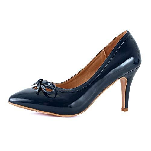 Guilty Shoes Sanzi-7 Navy Patent 7.5 ()