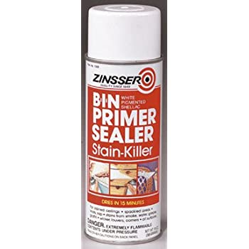 Zinsser B I N Shellac Base Primer Spray White 13 Oz Can