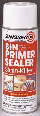 - Zinsser B-I-N Shellac-Base Primer Spray, White 13 Oz. Can (6 Pack)