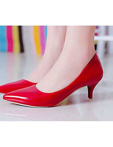 eu39 mujer PU Negro Tacones red 5 Zapatos eu36 cn39 Rojo Tacones Stiletto us8 Casual uk3 ZQ cn39 uk6 5 white de us8 red cn35 Blanco uk6 us5 eu39 Tac¨®n Hn8xTzEq