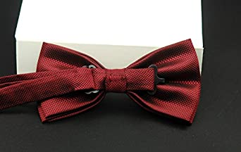 L04BABY Mens Classic Check Silk Pre-Tied Formal Tuxedo Adjustable Bow Tie