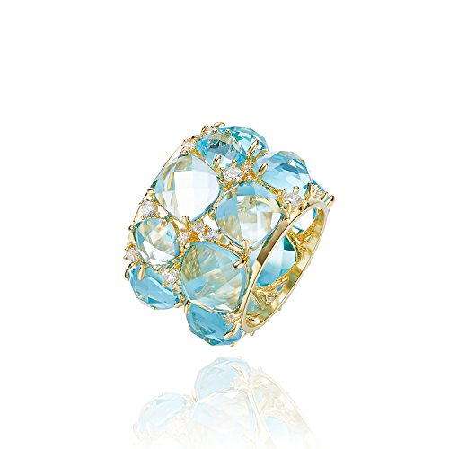 Cde Rings For Women  Crystal Jewelry Ring 18K Gold Plated Decorated With Crystals From Swarovski