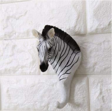 DN SUPPLY European Decorative Resin Animal Head Animal Key Holder Wall Hanger Statue Animal Shaped Coat Hat Hook Hanging Rack Home Decor