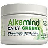 AlkaMind Daily Greens Supplement to GET OFF YOUR ACID! 27 Superfoods to Alkalize & Energize and Balance Your Body's pH - 30 Day Supply - USDA & QAI Organic Certified - Gluten Free - GMO Free - Light Refreshing Natural Peach Flavor - 100% Satisfaction Guarantee!