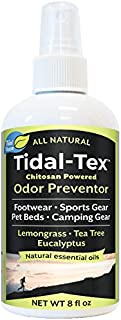 product image for Tidal-Tex Natural Odor Preventor Spray for Smelly Shoes and Feet, Sportswear, Pet Beds, Camping Gear, 8oz - Natural Essential Oils - Lemongrass Tea Tree Eucalyptus Peppermint