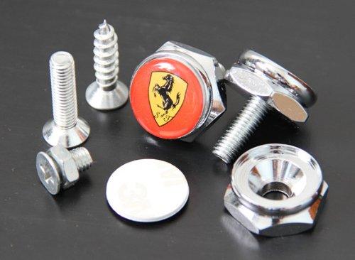 ferrari-license-plate-frame-bolts-screws