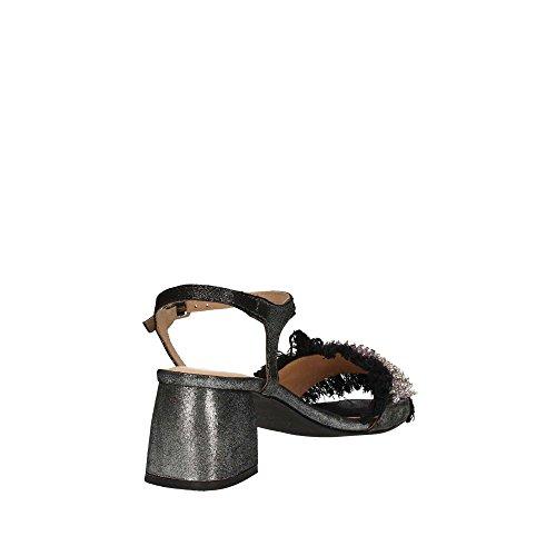 Niedrigem Sandalen Black Absatz Schuhe Schwarz 45310 mit Frau Gioseppo I0PqEA