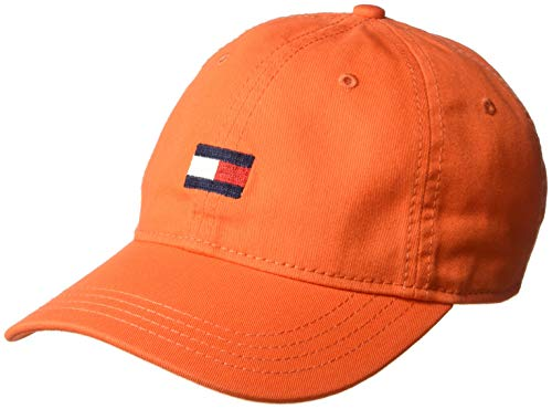 Tommy Hilfiger Men's Ardin Dad Hat, Orange, One Size -