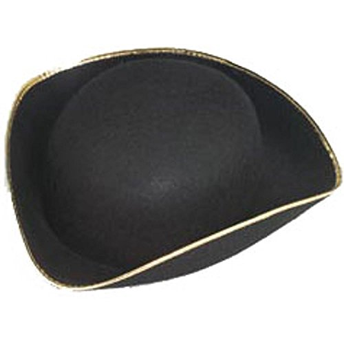 [Jacobson Hats Men's Permalux Tricorn Costume Hat] (Adult Colonial Tricorn Hat)