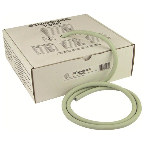 (a) Thera-Band Resistive Exercise Tubing- 100 Ft.- Silver ()
