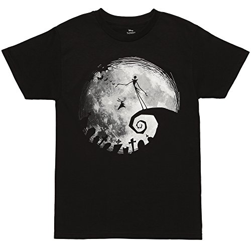 Nightmare Before Christmas Nightmare Moon Adult T-Shirt - Black (X-Large)