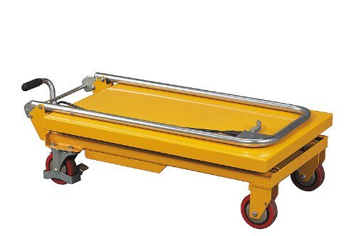 Wesco Industrial Products 260201 Folding Handle Scissors Lift Table, 330-lb. Load Capacity, 17.75'' x 36'' x 37''