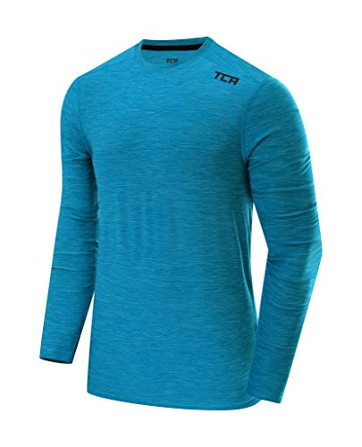 TCA Men's Galaxy Long Sleeve Training Top - Vivid Blue, (La Galaxy Training)