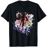 Unisex Men's T Shirt Colourful Ink-splashing Elephant