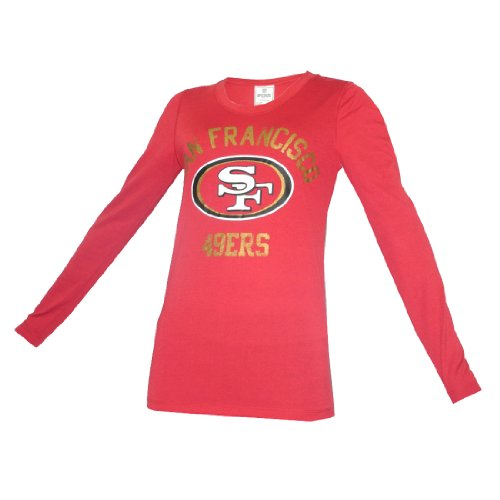 WOMENS Pink Victoria's Secret NFL San Francisco 49ers Long Sleeve Tee