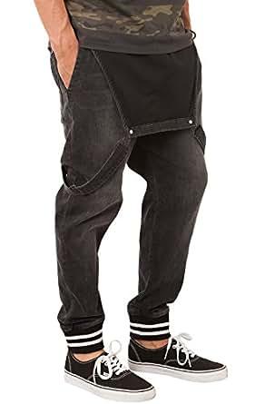 Elwood Men's Varsity Jogger Denim Overalls Extra Extra Large Black