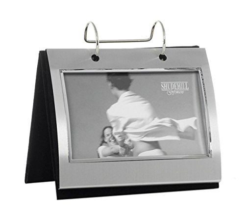 Photo Frames 74100 Silver Colour Free Standing Flip Album - Holds 50 of 6 x 4 inch ()