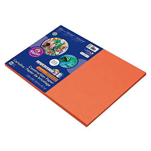 Riverside 3D Construction Paper, Orange, 12