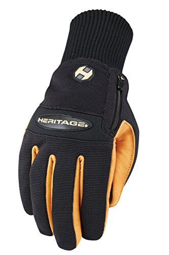 Heritage Winter Work Gloves, Size 9, Black/Tan