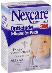 """3M OPTICLUDE EYE PATCH JR 1537 Box of 20 2.5"""" x 1.5"""" oval patch"""