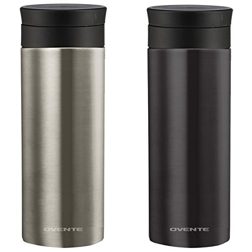 Ovente Travel Mug with Flavor Infuser, Hot/Cool Thermos, ...