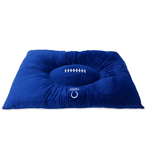 NFL PET Bed - Indianapolis Colts Soft & Cozy Plush Pillow Bed. - Football Dog Bed. Cuddle, Warm Sports Mattress Bed for Cats & ()