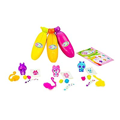 Bananas Collectible Toy 3-Pack Bunch (Orange, Pink, Yellow - Series 1) by Cepia (Styles May Vary): Toys & Games
