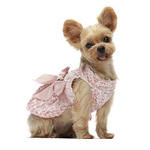 Fitwarm Embroidery Dog Dresses Pet Clothes Prom Dress Cat Party Gown