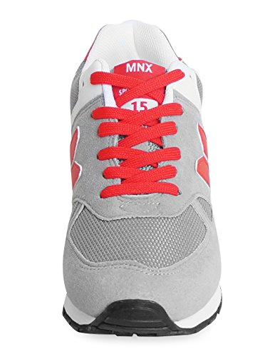 MNX15 Womens Elevator Shoes Height Increase 3.5 ROBIN GRAY Wedge Sneakers High Heel Sneakers Gray D3plmBrGzQ