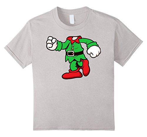 [Kids Cute Elf Ugly Christmas Sweater Costume T-Shirt 8 Silver] (Cute Elf Costumes For Kids)
