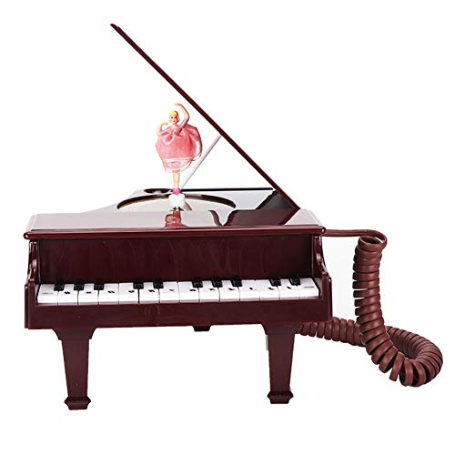 Corded Phone, Corded Phone Piano-Shape Desk Phone for Gifts on Holiday/Birthday/Valentine's Day with Clear Sound Quality from fo sa