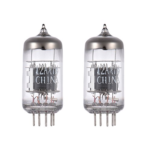 (ammoon 2pcs 12AX7B Preamp Electron Vacuum Tubes 9-pin Dual Triode for 12AX7 ECC83 B759 7025 5751 Tube Replacement)