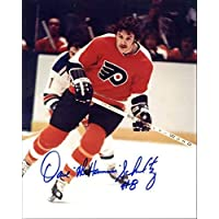 $34 » Dave Schultz Autographed/Original Signed 8x10 Action-photo w/the Philadelphia Flyers - He Added His Nickname 'The Hammer' & His Number 8 -COA