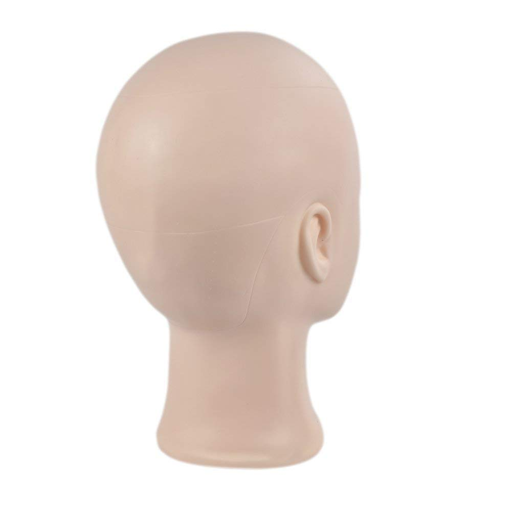 Wigs,Glasses,Hair with Free Clamp Making Wigs Professional Cosmetology Bald Mannequin Head Manikin Model Doll Head for Make Up