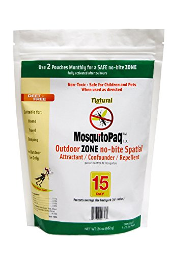MOSQUITOPAQ All Natural Mosquito Zone System - Lasts 15 Days
