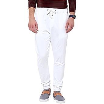 cheaper d0a21 06fd4 Hypernation Men s Cotton Jogger Pant (White, ...