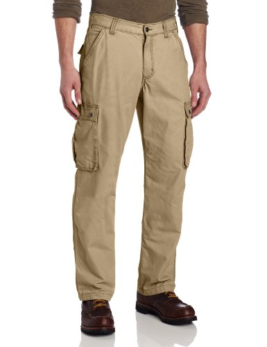 Carhartt Men's Rugged Cargo Pant Relaxed Fit,Dark Khaki,44W x (Carhartt Relaxed Fit Work Pants)