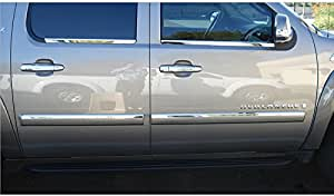 For Chevy AVALANCHE Chrome Body Side Molding Trim Kit 2007-2010 2011 2012 2013**